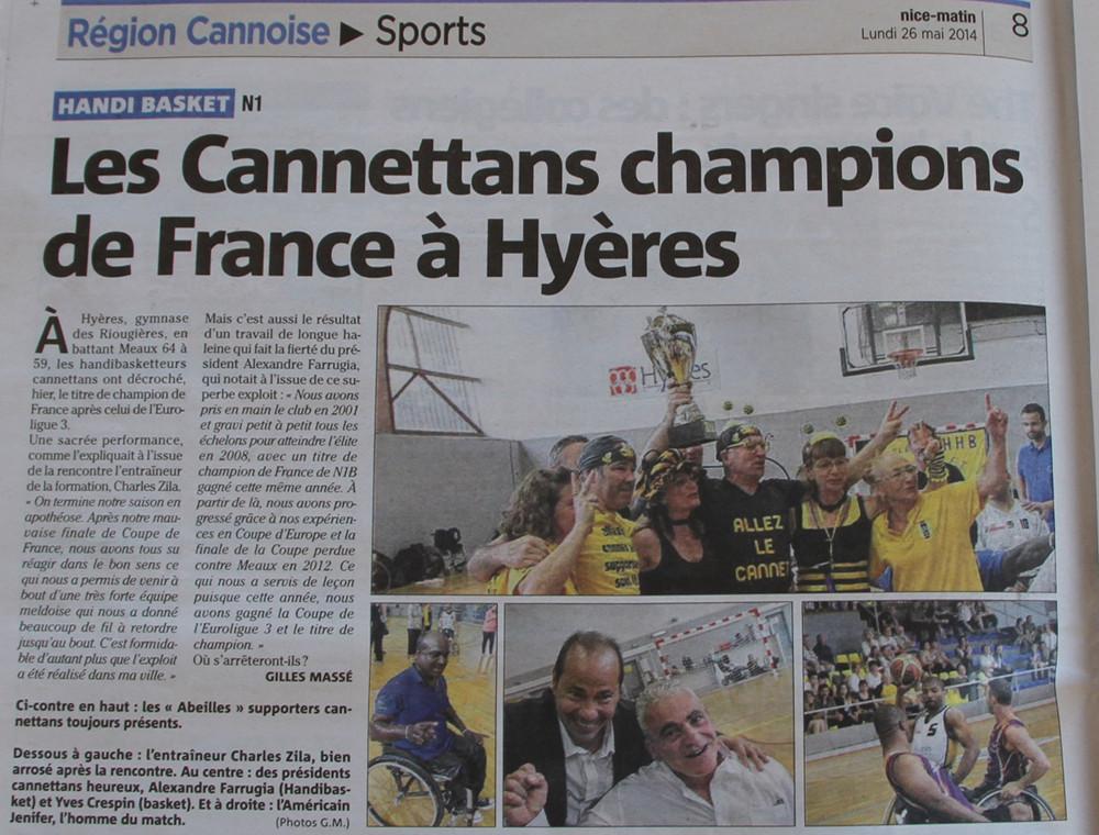Article champion de France2