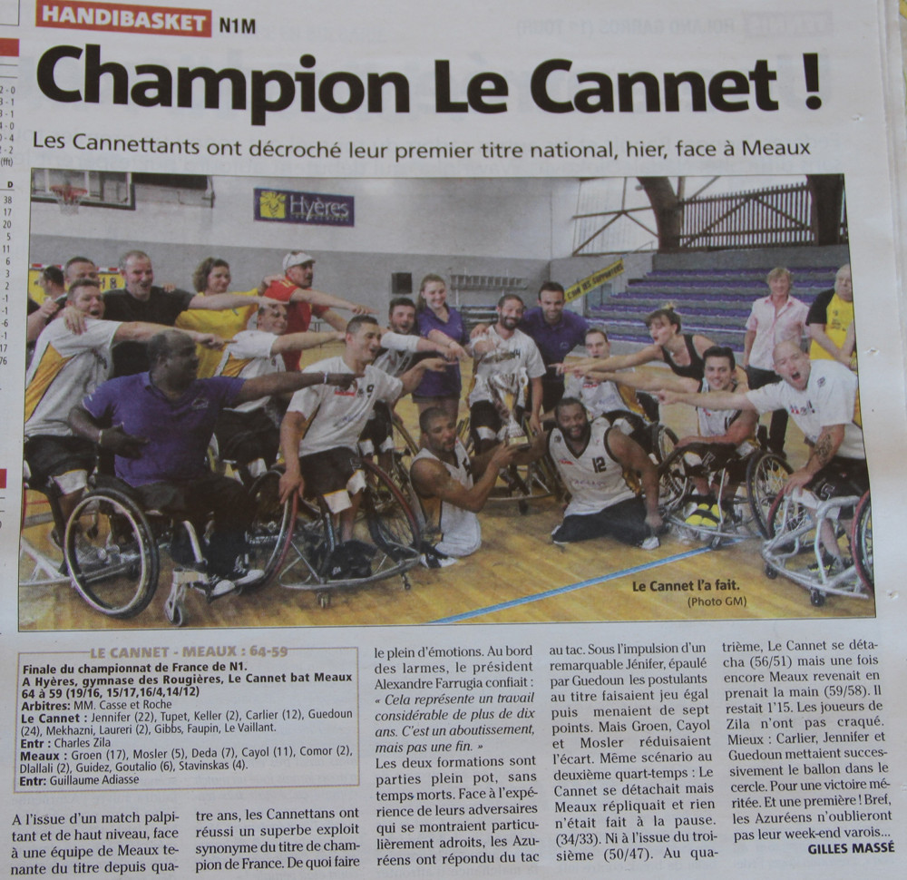 Article nice matin victoire champin d france2