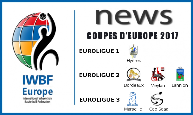 Coupes d'europe 2017
