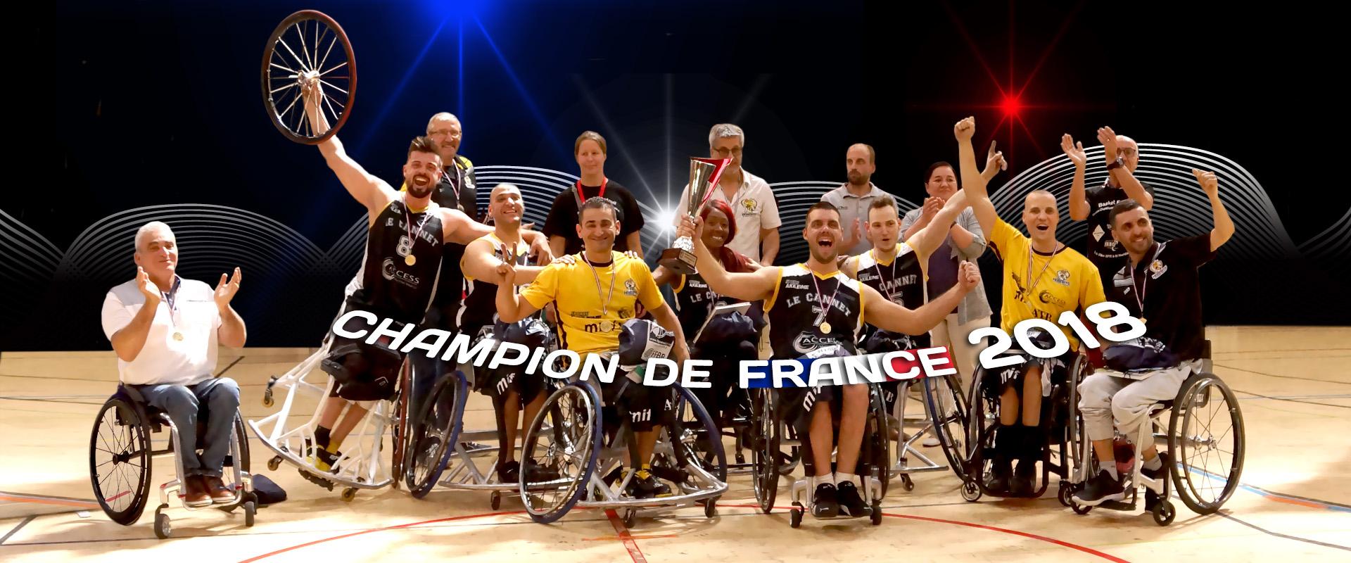 Hornets Le Cannet Champion de France 2018